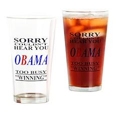 Obama Winning Drinking Glass