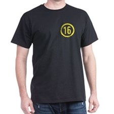 Yellow Solidarity 16 Black T-Shirt