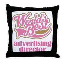 Advertising Director (Worlds Best) Throw Pillow