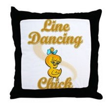 Line Dancing Chick #2 Throw Pillow