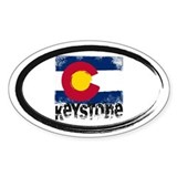 Keystone Grunge Flag Decal