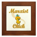 Marxist Chick #2 Framed Tile