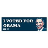 Voted for Obama Décalcomanies auto