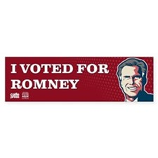 Voted for Romney Bumper Sticker