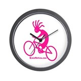 Kokopelli Mountain Biker Wall Clock
