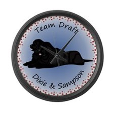 Team Draft - Dixie & Sampson Large Wall Clock