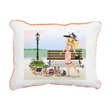 A day at the Derby Rectangular Canvas Pillow
