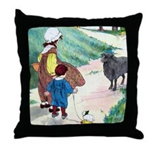 Baa Baa Black Sheep Throw Pillow