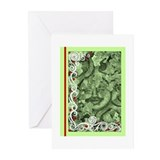 Cute Green man Greeting Cards (Pk of 20)