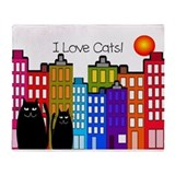 I love cats 2.PNG Throw Blanket