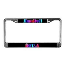 Handbell Diva Black License Plate Frame