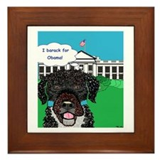 I barack for Obama!! Framed Tile