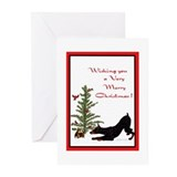 Cute Doberman pinscher Greeting Cards (Pk of 20)