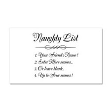 Personalized Naughty List Car Magnet 20 x 12