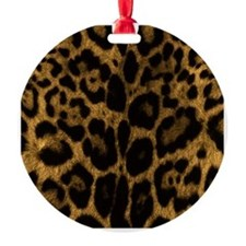 Jaguar Print Ornament