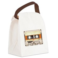Retro Vintage Style Cassette Tape Canvas Lunch Bag