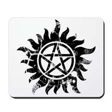 Anti-Possession Symbol Black (Cracked) Mousepad