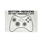 Button Masher Rectangle Magnet