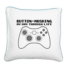 Button Masher Square Canvas Pillow