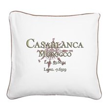 Casablanca Square Canvas Pillow