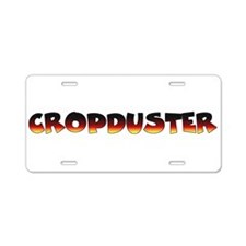 Cute Cropdusters Aluminum License Plate