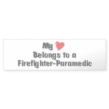 My Heart: Firefighter-Paramed Bumper Bumper Sticke