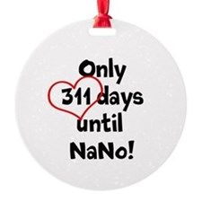 311 days until NaNo! Ornament