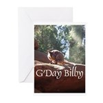 Black Footed Wallaby Greeting Cards (Pk of 10)