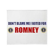 DONT BLAME ME I VOTED FOR ROMNEY BUMPER STICKER S