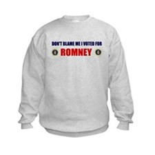 DONT BLAME ME I VOTED FOR ROMNEY BUMPER STICKER Ki