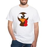 Turkey t shirt Mens White T-shirts