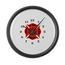 Unique Fireman Large Wall Clock