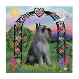 Rose Arborl/PS Giant Schnauzer Tile Coaster