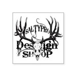 saltypro design shop Square Sticker 3