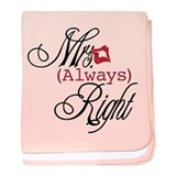 Mrs. Always Right baby blanket