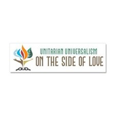 UU On the Side of Love Car Magnet 10 x 3