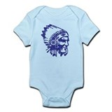 Blue Indian Vintage Onesie