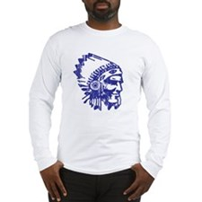 Blue Indian Vintage Long Sleeve T-Shirt