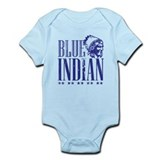 Blue Indian Head Dress Vintage Onesie