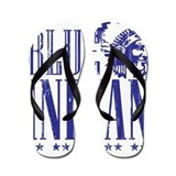 Blue Indian Head Dress Vintage Flip Flops