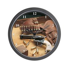 Cute Gun Wall Clock