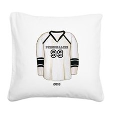 Hockey Jersey Square Canvas Pillow