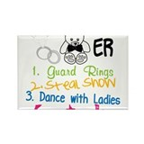 Guard Rings Rectangle Magnet