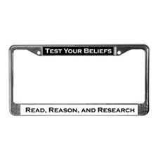 Cool Belief License Plate Frame