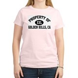 Property of GOLDEN HILLS Women's Pink T-Shirt