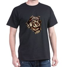 Bulldog Ripout Black T-Shirt