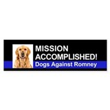 Mission Accomplished sticker - Golden