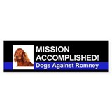 Mission Accomplished sticker - Irish Setter