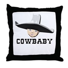 Cowbaby Throw Pillow