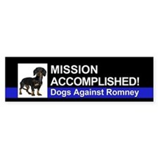 Mission Accomplished sticker - Dachshund